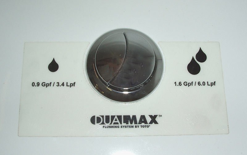 water conservation by dual flush toilets