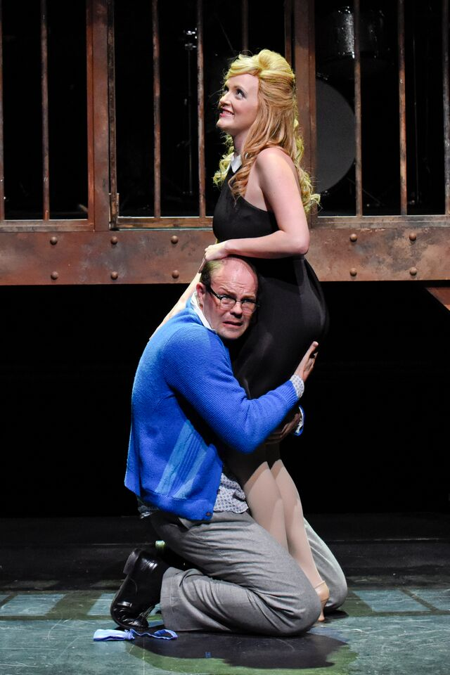 Luke Longacre and Whitney Hennen in Sweet Charity at WaterTower Theatre photo by Karen Almond