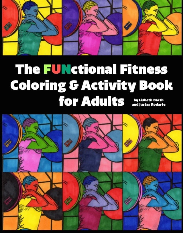 functional fitness coloring and activity book for adults