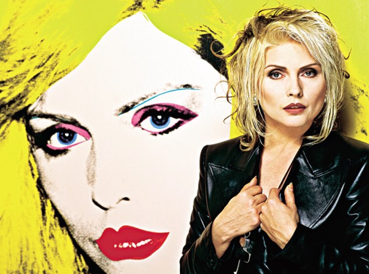 Debbie Harry with her Andy Warhol - Photo courtesy Brian Arls
