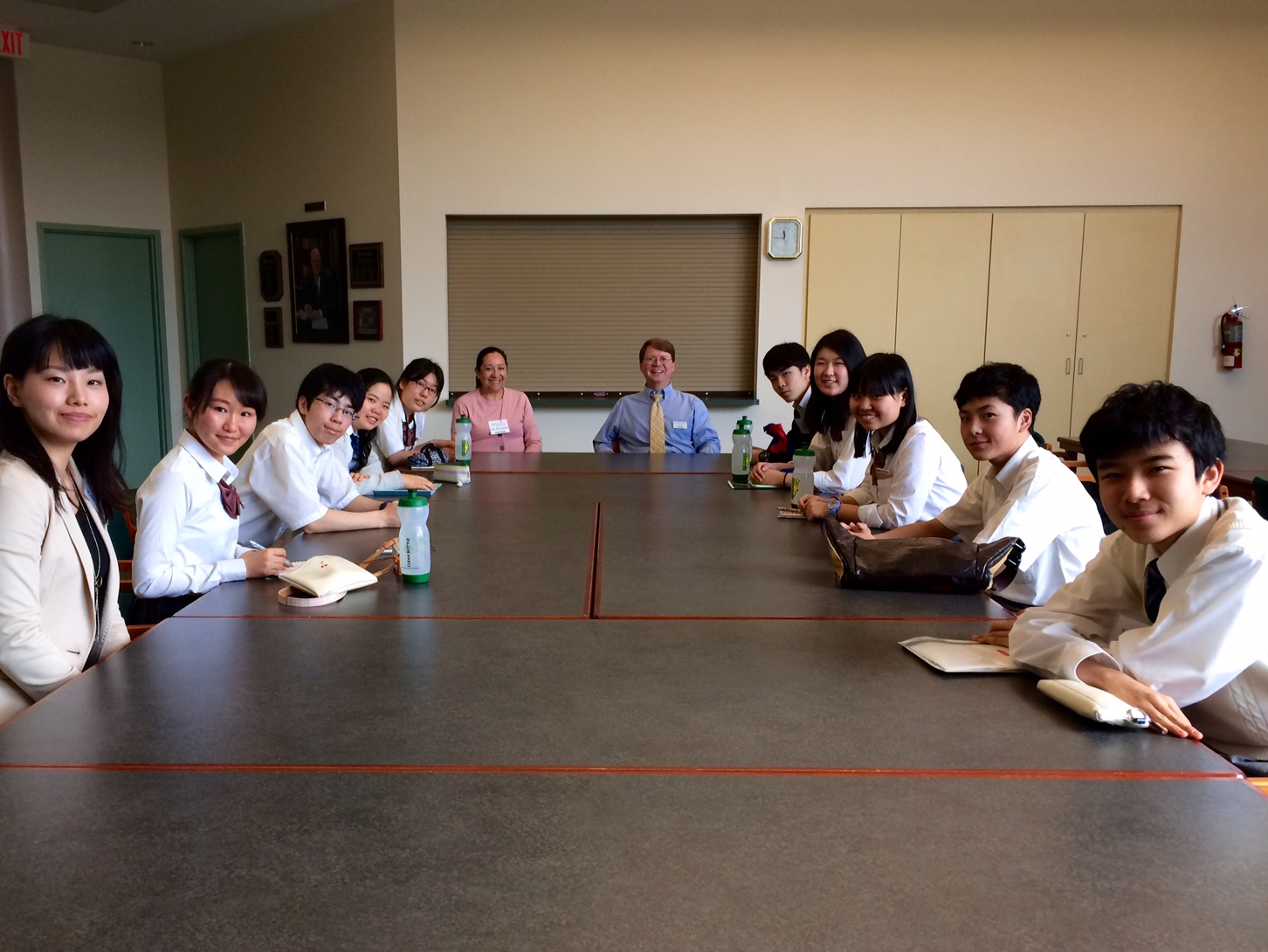 conversation with Japanese students