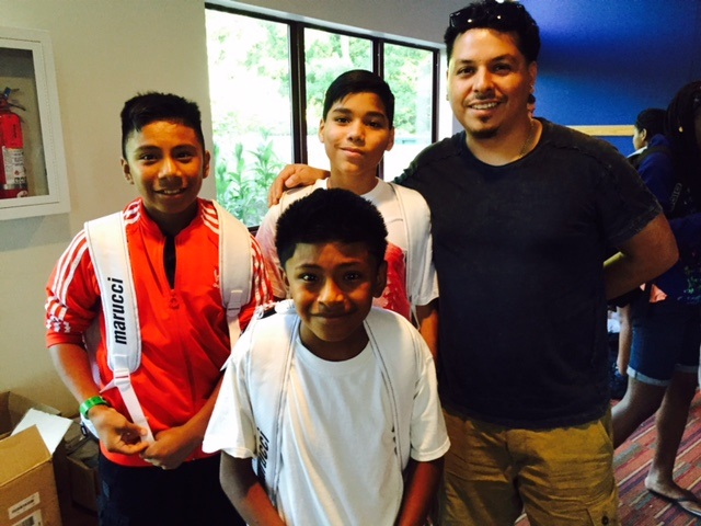 Hector with Pedro, Anthony, and Omar