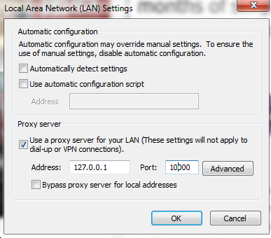 Setup Configuration and add IP address and port