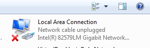 No Network connection – Unidentified Network