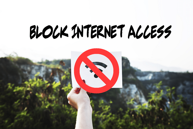 How to block internet access