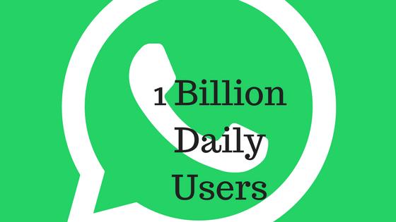 WhatsApp के डेली एक्टिव यूज़र की संख्या हुई 2 बिलियन