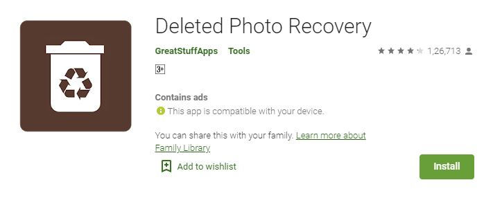 Deleted Photo Recovery Workshop