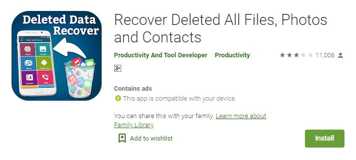 Recover Deleted All Files, Video, Photo and Contact