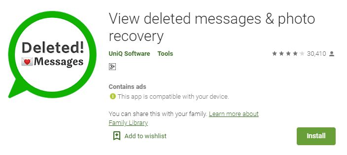 View Deleted Messages & Photo Recovery
