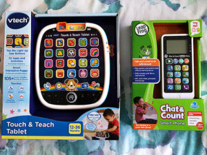 Vtech Touch and Teach Laptop & Leap Frog Chat and Count Smart Phone