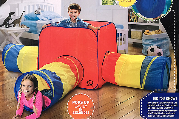 Discovery: 3-in-1 Children's Play Tunnel