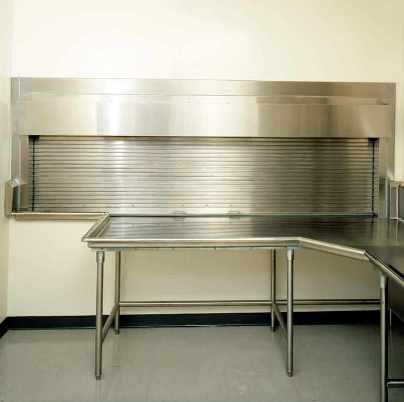 roll-up counter door for cafeteria