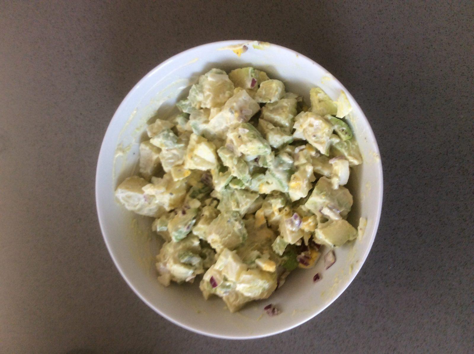 Potato Avocado Bacon Egg Salad