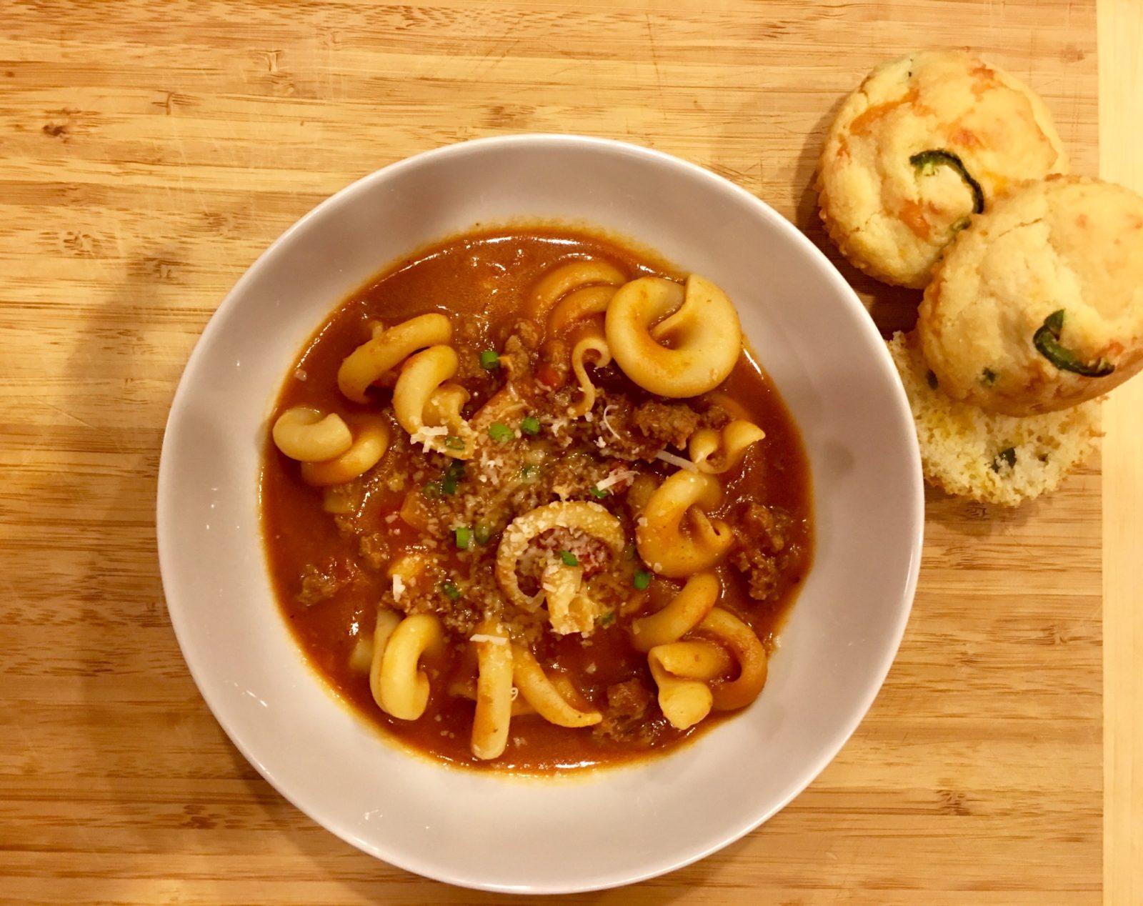 Macaroni Beef Tomato Soup