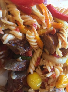 Italien Sausage with Roasted Vegetables and pasta V