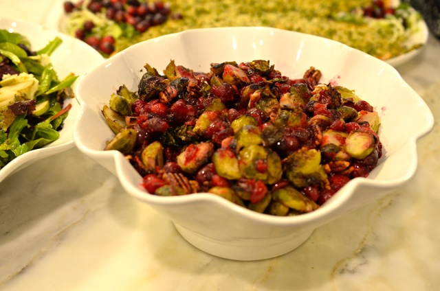 Roasted Brussel Sprouts, Cranberries and Pecans