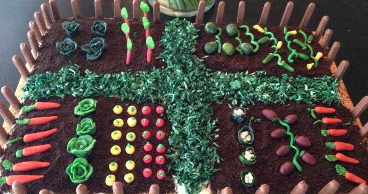 Fun family project – Easter cake with Marzipan Vegetable Garden