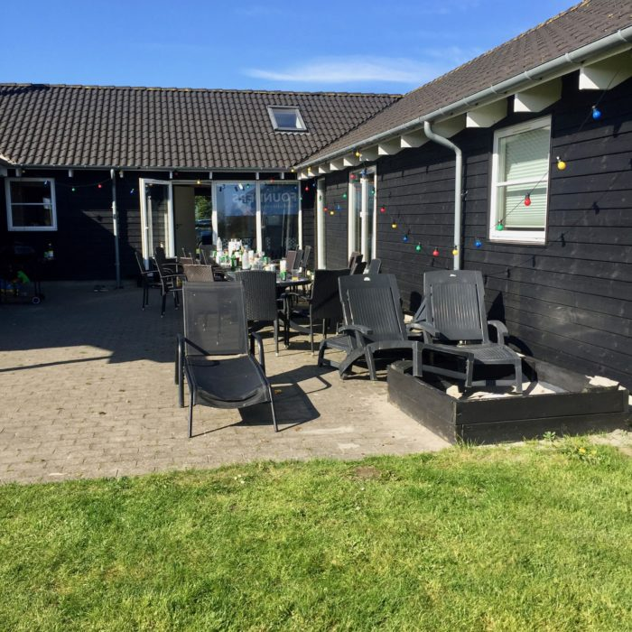 Outdoor grill and tables at our Sommerhus