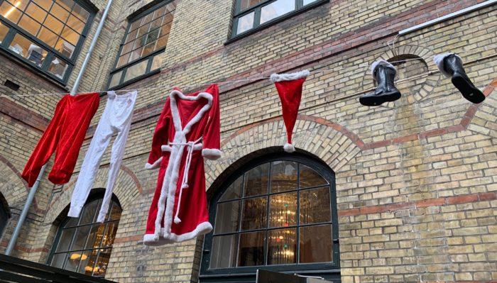 Santa's washing line!