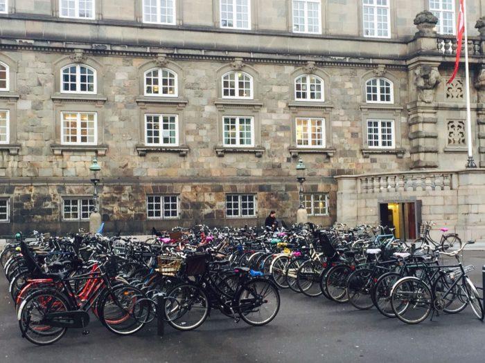 Bikes outside Parliament