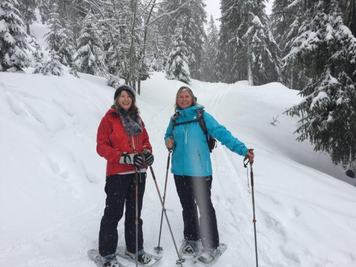 Snow shoeing in Switzerland