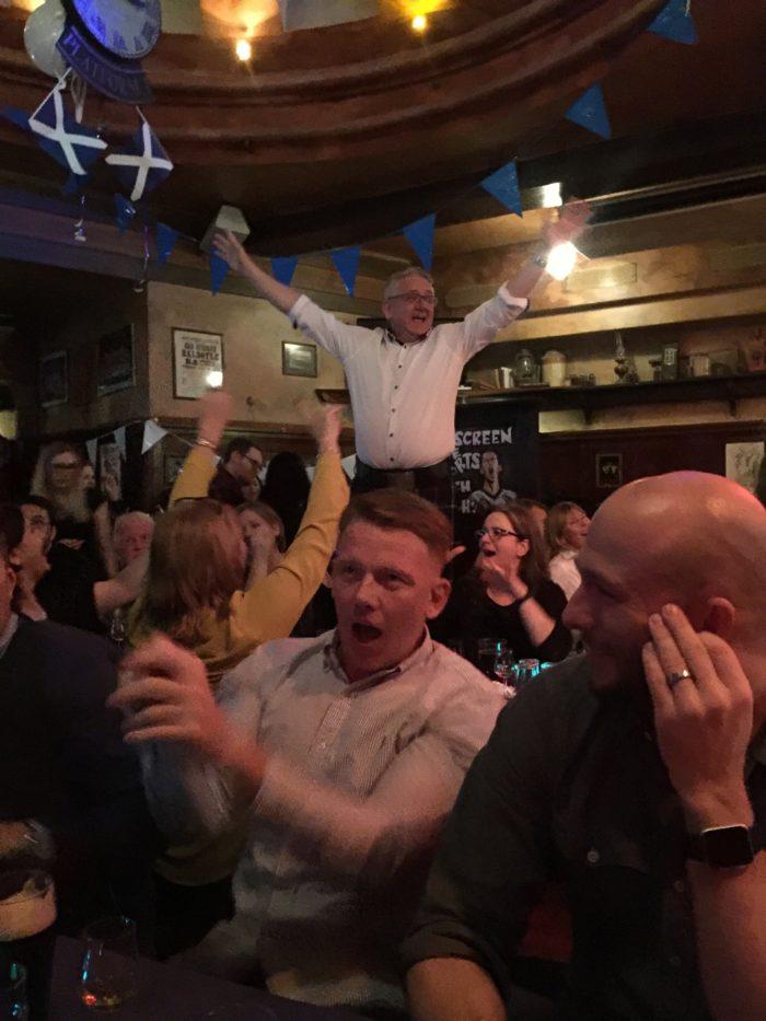 celebrating Burns night with Danes