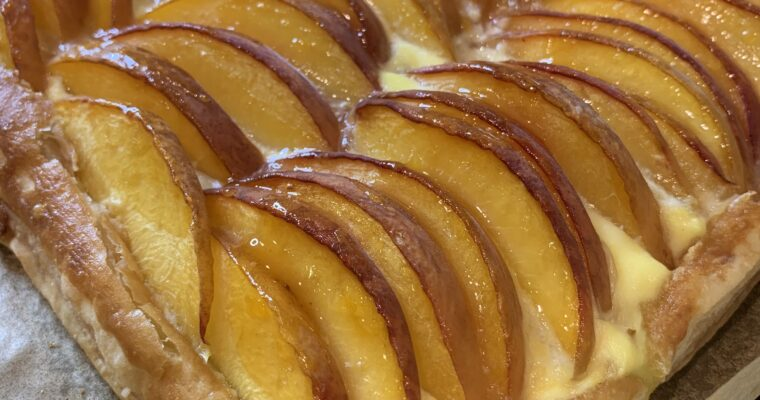 Fabulous and easy Summer Peach and Ricotta Tart