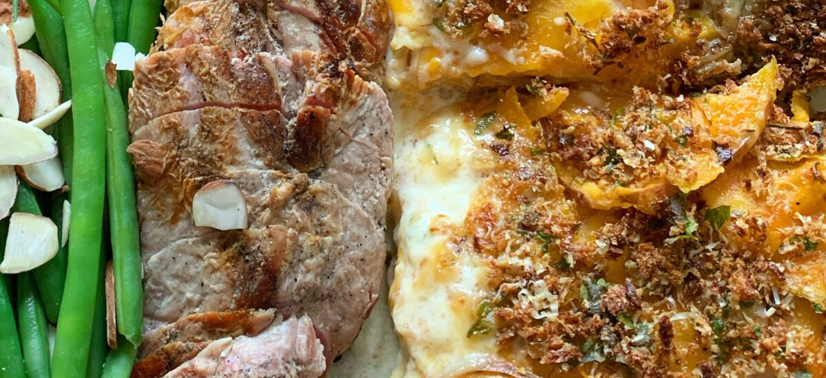 Sweet Potato and Apple Gratin- Ultimate Comfort Food