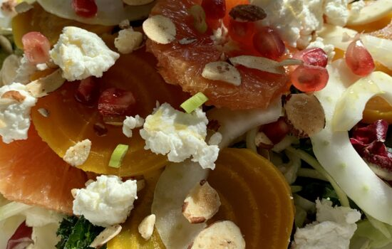 'Beet' the Winter Blues with this Gorgeous Golden Beet, Blood Orange and Goat Cheese Salad with Citrus Dressing