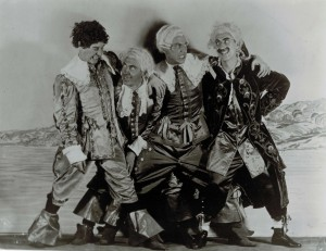 """The Four Musketeers from """"Animal Crackers"""": Harpo, Chico, Zeppo and Groucho. (Photo courtesy Robert Bader)"""