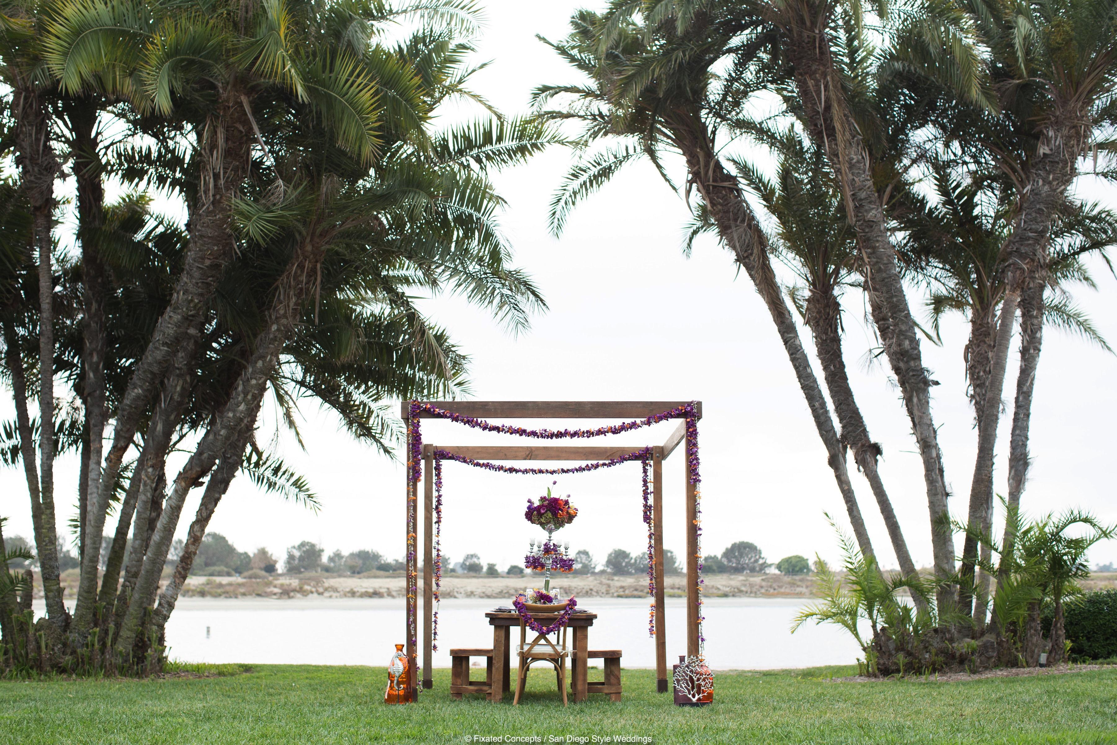 Elegant Beach Tablescape Photo Shoot for San Diego Style Weddings