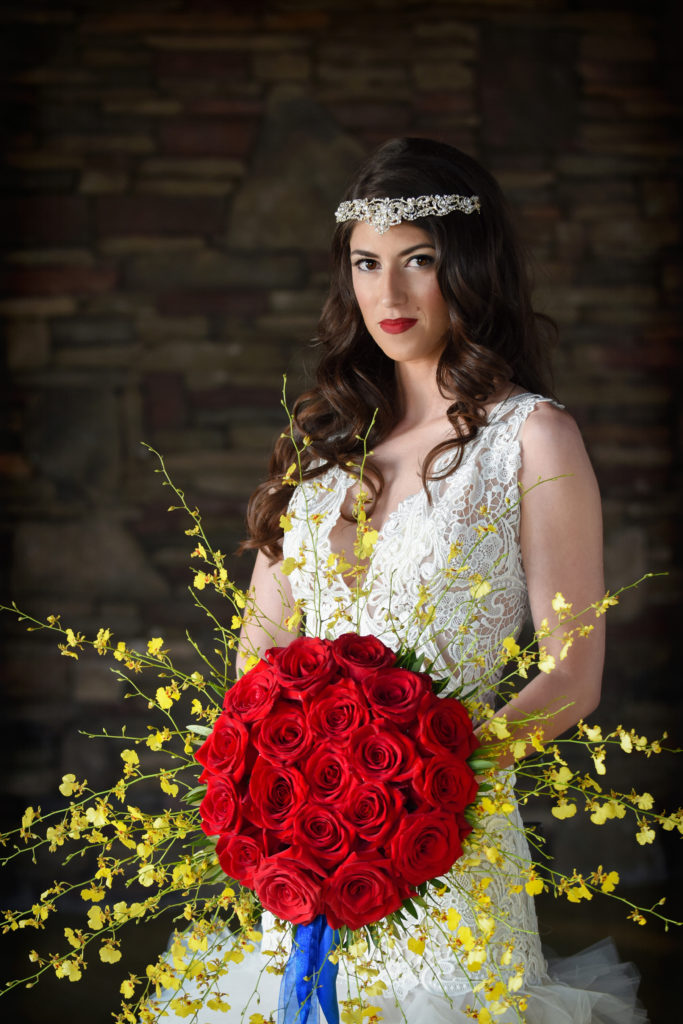 Siper hero shield wedding bouquet