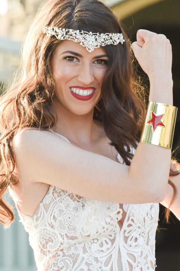 Wonder Woman bracelet for bride