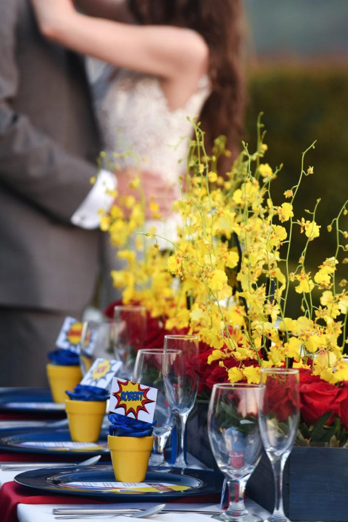 Suoer hero wedding tablescape