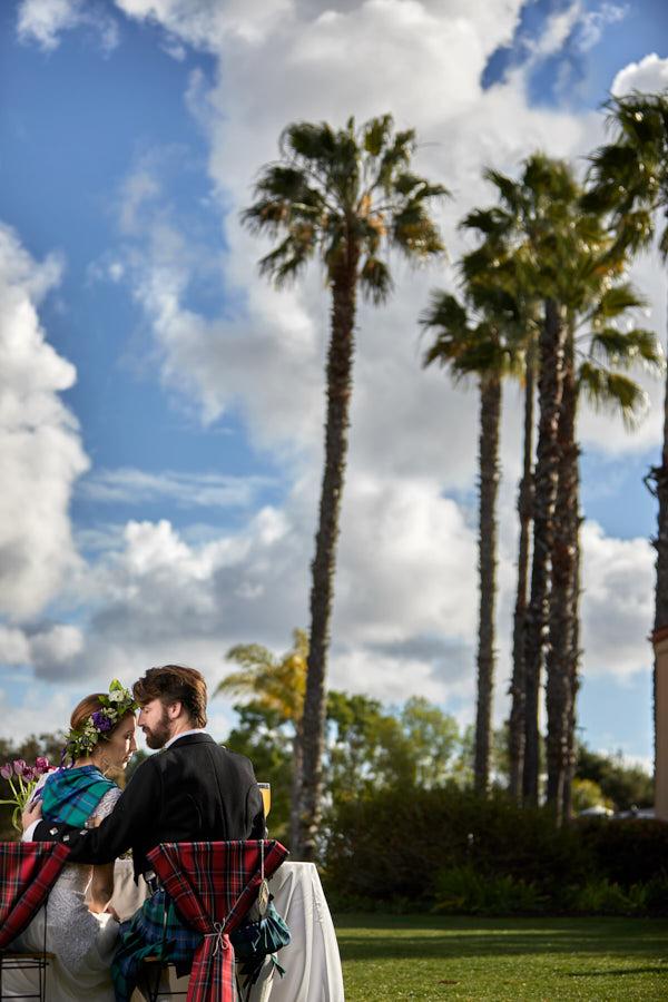 scottish wedding, beautiful sky, kilt, celtic