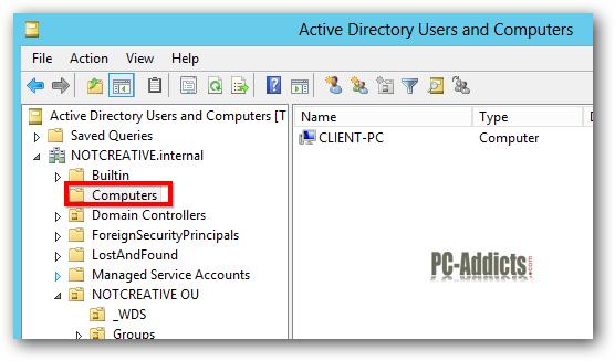 Server 2012 Default Computers OU