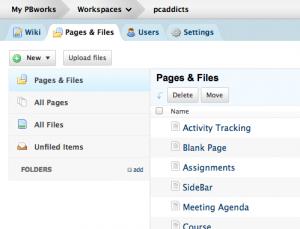 Server Setup - PBWorks as Wiki