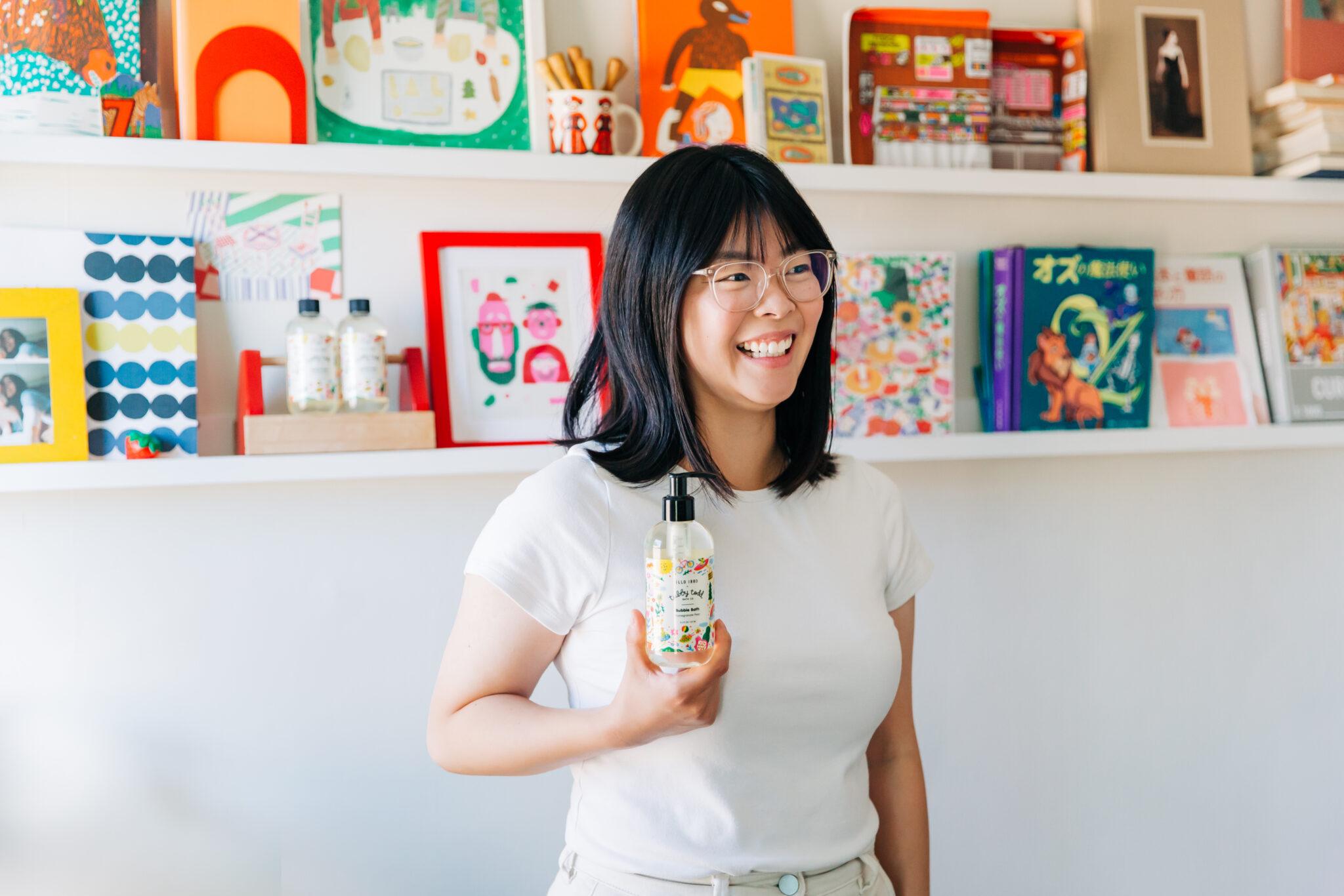 Asahi Nagata with her Tubby Todd Bubble Bath collaboration