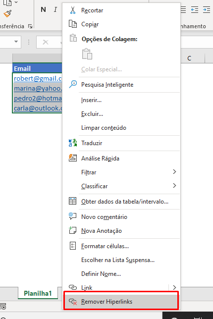 Remover Links do Excel