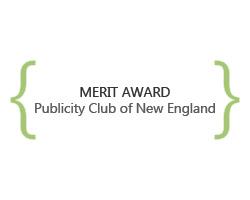 merit award, publicity club of new england
