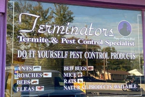 terminators diy store window