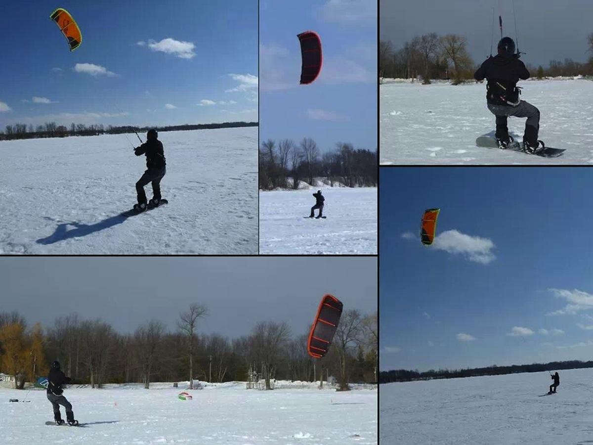 lake simcoe snow kiting