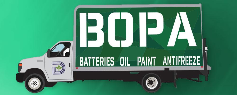 BOPA Event in Dallas - Recycling Batteries Oil Paint Antifreeze