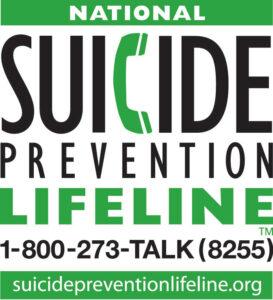 National Suicide Prevention Lifeline 1-800-273-TALK