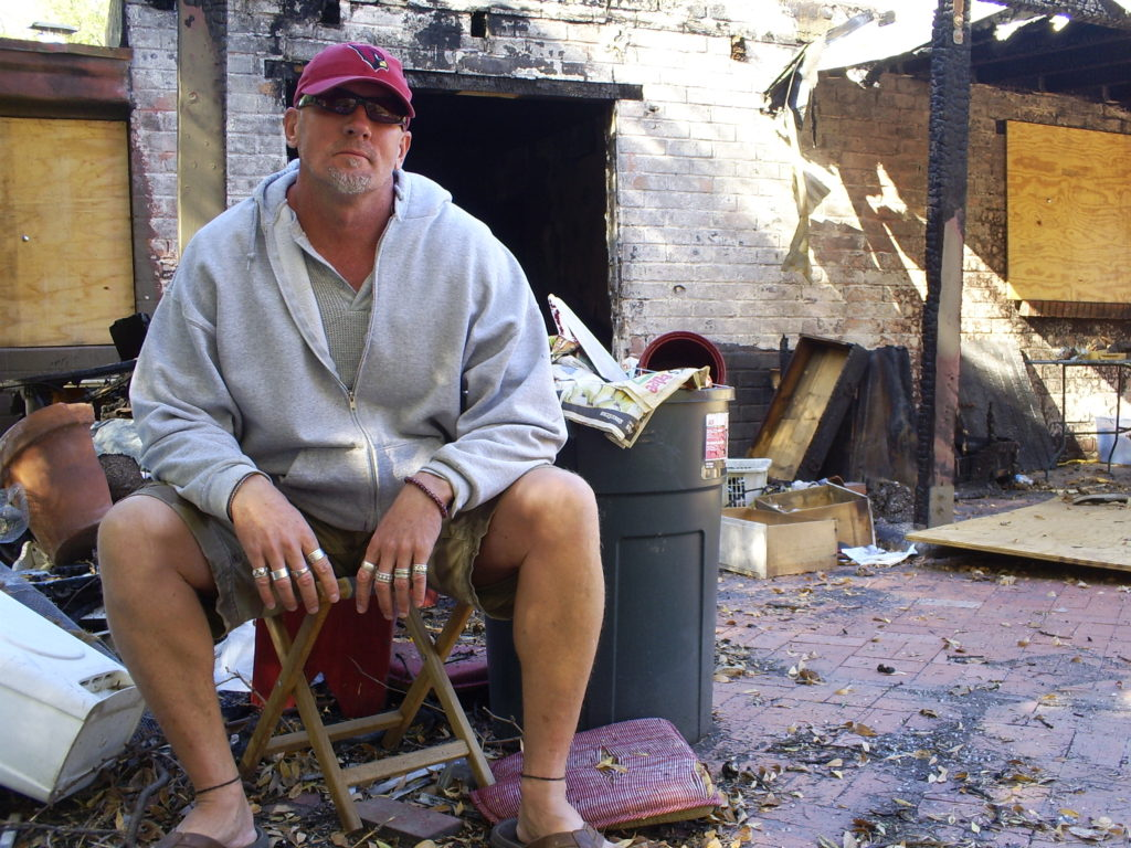Jay's home was destroyed in an arson fire. His family was lucky to get out alive.