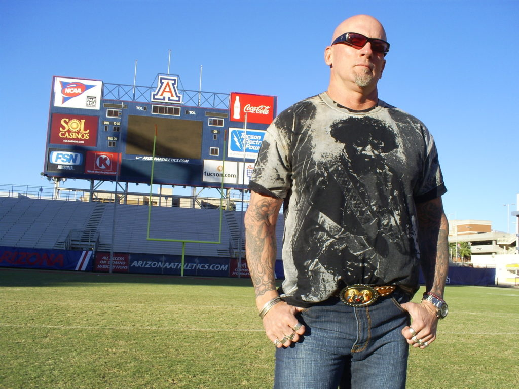Jay posed for me on the same UA football field where he played as a Wildcat wide receiver.