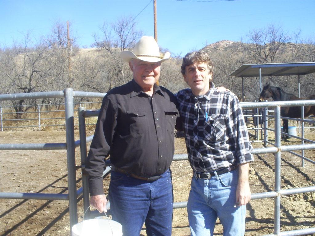 J.P.S. Brown and me at his home in Patagonia, Arizona