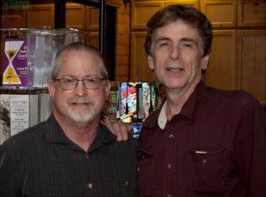 Leo with author Matt Coyle