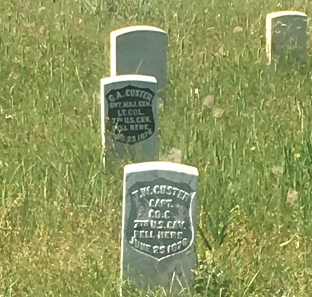 Custer memorial markers