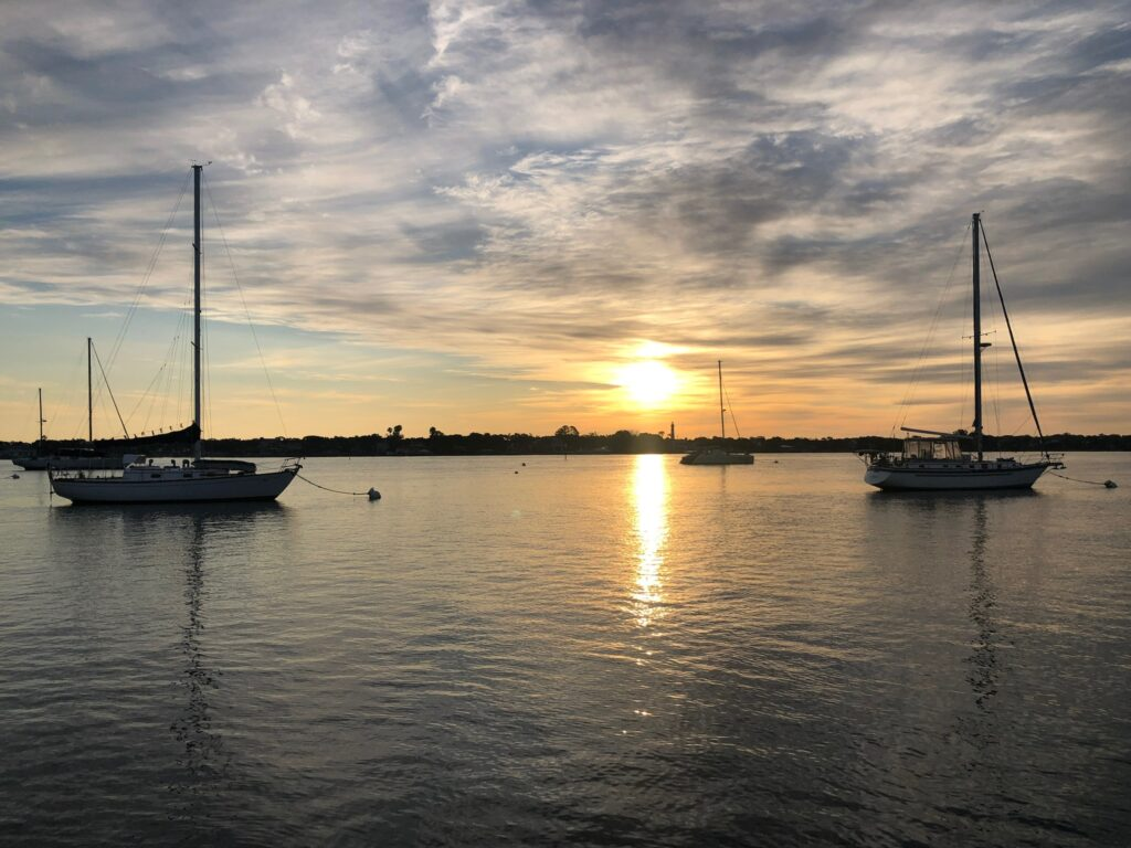 Sunset at St. Augustine mooring field
